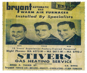 Stivers featured in an old newspaper